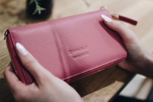 Lederpflege Smart Wallet Rose
